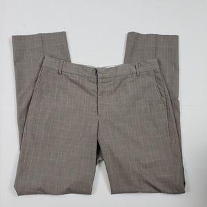 Ted Baker Men Dress Pants 34L Check Crop Trouser